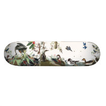Audubon Collage Birds Wildlife Animals Skateboard