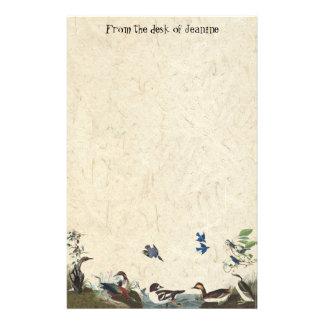 Audubon Collage of Birds Handmade Paper Stationery