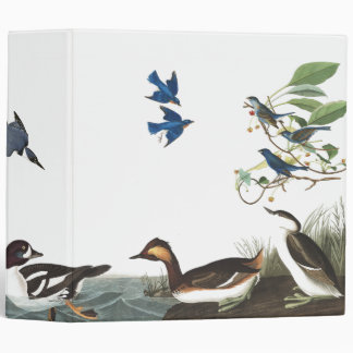 Audubon Collage of Birds Wildlife Animals Binder
