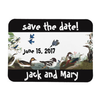 Audubon Collage of Birds Wildlife Save Date Magnet