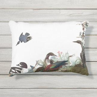 Audubon Collage Water Birds Wildlife Patio Pillow