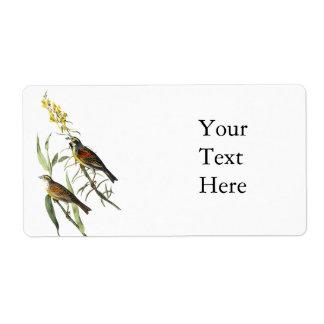 Audubon Dickcissel Custom Shipping Label