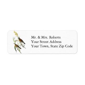 Audubon Dickcissel Custom Return Address Labels
