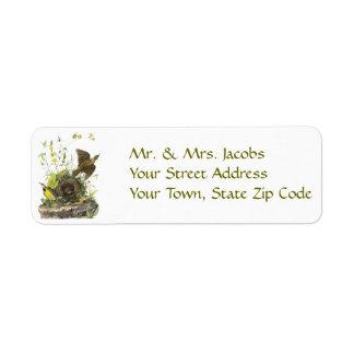 Audubon Eastern Meadowlard Custom Return Address Label