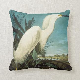 Audubon: Egret Cojín Decorativo