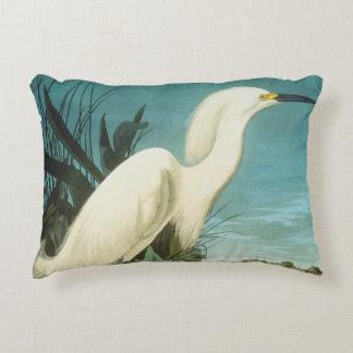 Audubon: Egret Decorative Pillow
