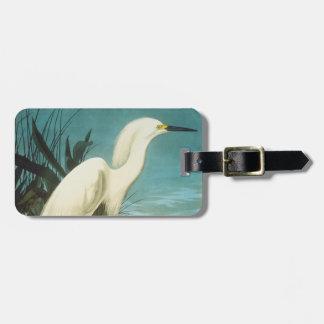 Audubon: Egret Luggage Tag