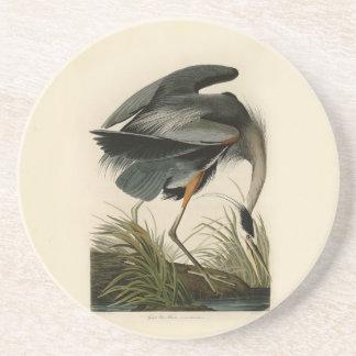 Audubon Great Blue Heron Birds Drink Coasters