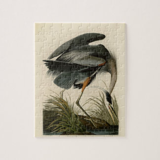 Audubon Great Blue Heron Birds Jigsaw Puzzle