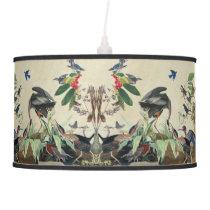 Audubon Heron Birds Songbirds Collage Lamp