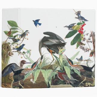 Audubon Heron Birds Wildlife Animals Binder