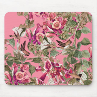 Audubon Hummingbird Birds Wildlife Flowers Floral Mouse Pad
