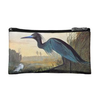 Audubon: Little Blue Heron Makeup Bag