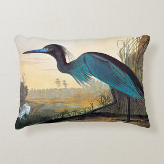 Audubon: Little Blue Heron Decorative Pillow