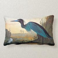 Audubon: Little Blue Heron Lumbar Pillow