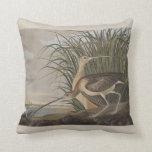 Audubon Long-Billed Curlew Sandpiper Bird Throw Pillow