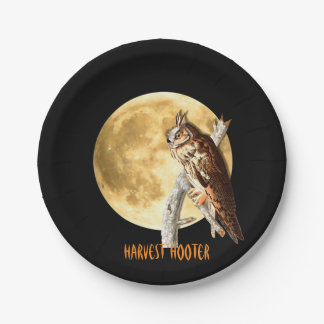 Audubon Long-eared Owl Halloween Plates