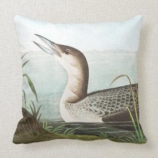 Audubon Loon Birds Wildlife Animal Throw Pillow