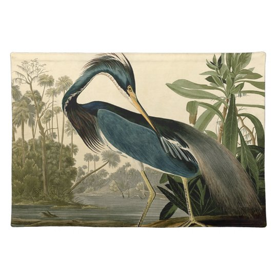 Audubon Louisiana Heron Cloth Placemat