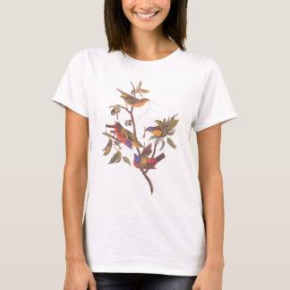 Audubon Painted Buntings Family of Five Birds T-Shirt