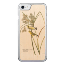 Audubon Plate 14 Prairie Warbler Carved iPhone 8/7 Case