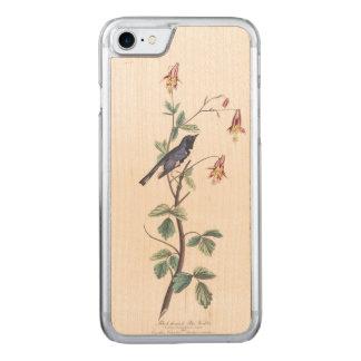 Audubon Plate 155 Black-Throated Blue Warbler Carved iPhone 8/7 Case