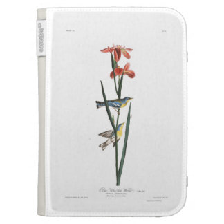 Audubon Plate 15 Blue Yellow-backed Warbler Cases For The Kindle
