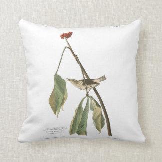 Audubon Plate 19 Louisiana Water Thrush Throw Pillow