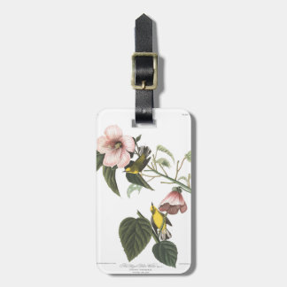 Audubon Plate 20 Blue-winged Yellow Warbler Luggage Tag