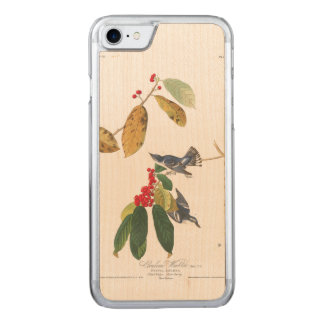 Audubon Plate 48 Azure Cerulean Warbler Carved iPhone 7 Case