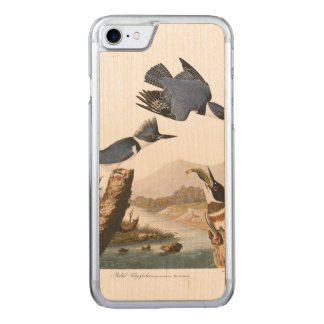 Audubon Plate 77 Belted Kingfisher Carved iPhone 7 Case