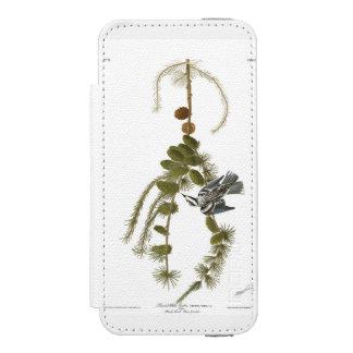Audubon Plate 90 Black & White Creeper Wallet Case For iPhone SE/5/5s