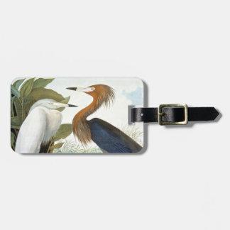 Audubon: Reddish Egret Or Purple Heron Tag For Bags