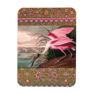 Audubon Roseate Spoonbill Bird Vintage Print Magnet