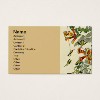 Audubon Ruby Throated Hummingbirds Business Card