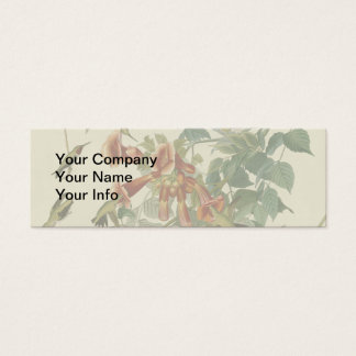 Audubon Ruby Throated Hummingbirds Mini Business Card