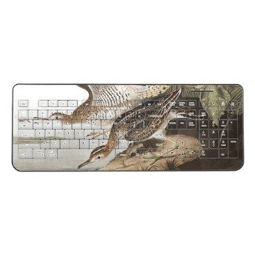 Audubon Sandpiper Birds Wildlife Wireless Keyboard