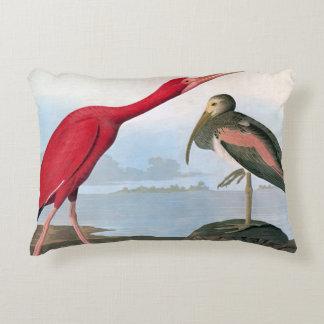 Audubon: Scarlet Ibis Decorative Pillow