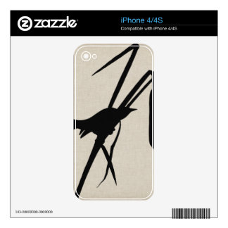 Audubon Silhouette II Decal For The iPhone 4S