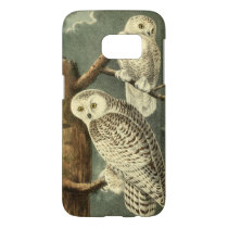 Audubon Snowy Owl Illustration Art Painting Samsung Galaxy S7 Case