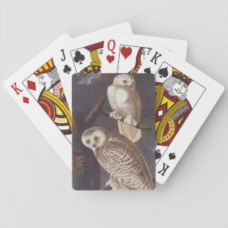 Audubon Snowy White Owls on a Dark Cloudy Night Card Decks
