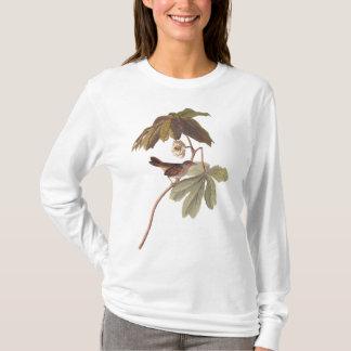 Audubon Swamp Sparrow Bird on Wild Mandrake T Shirt
