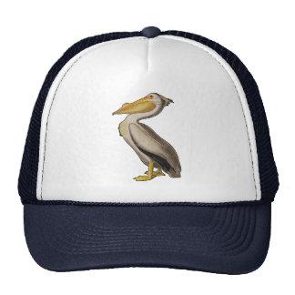 Audubon White Pelican Bird Vintage Print Trucker Hat