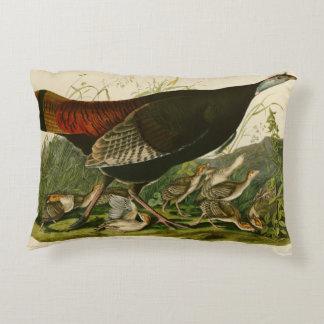 Audubon Wild Turkey Vintage Birds of America Decorative Pillow