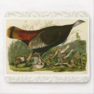 Audubon Wild Turkey Vintage Birds of America Mouse Pad