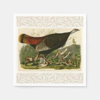 Audubon Wild Turkey Vintage Birds of America Napkin