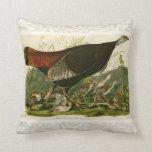 Audubon Wild Turkey Vintage Birds of America Throw Pillow