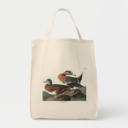 Grocery Tote with Audubon's American Wigeon design