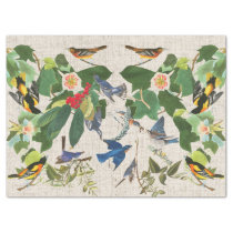 Audubons Birds Wildlife Animal Floral Tissue Paper