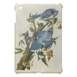 Case Savvy iPad Mini Glossy Finish Case with Audubon's Blue Jays design